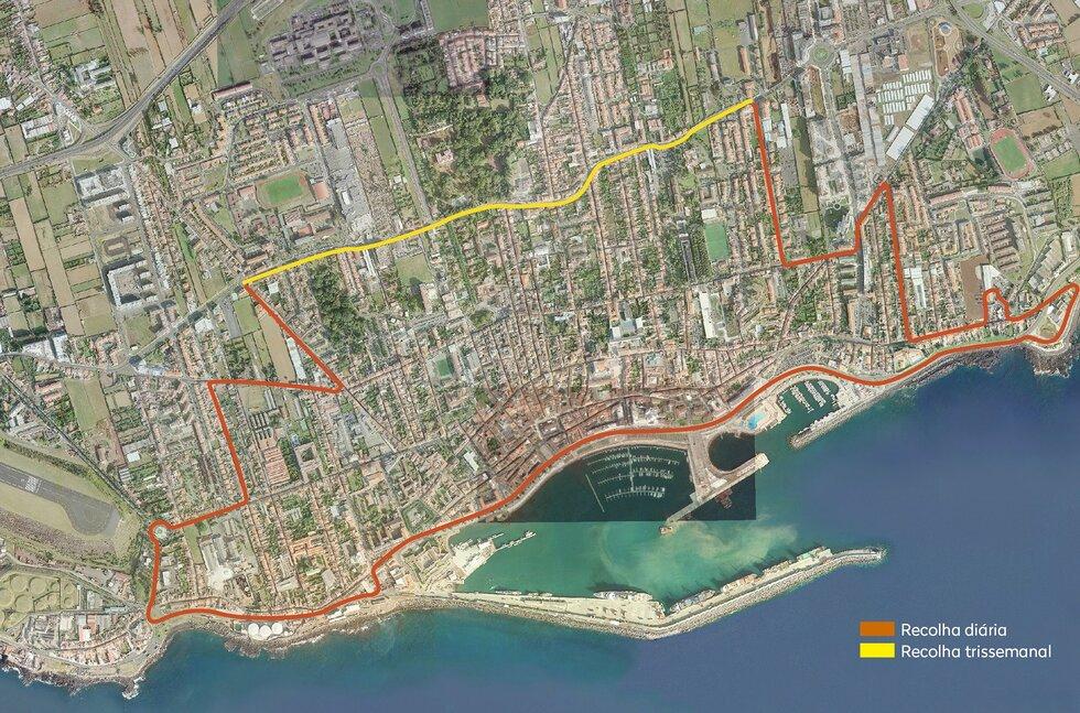mapa ponta delgada ruas CM Ponta Delgada / Recolha de resíduos   horários e percursos mapa ponta delgada ruas